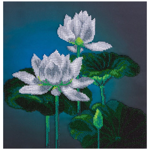 Panna Bead Embroidery Kit - White Lotus