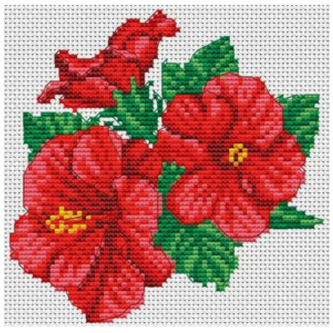 VDV Cross Stitch Kit - Chinese Roses (M-0243),