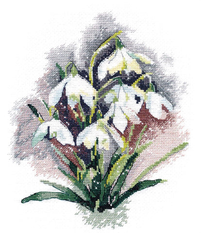 Oven Cross Stitch Kit - Snowdrops