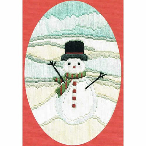 Derwentwater Designs Christmas Long Stitch Card Kit - Frosty Snowman