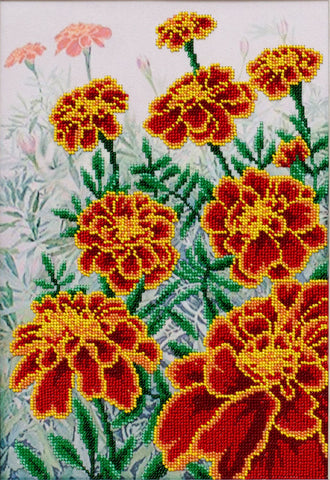 VDV Bead Embroidery Kit - Marigolds