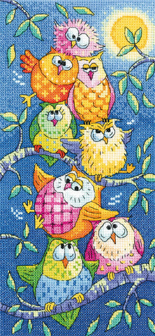 Heritage Crafts Birds Of A Feather Cross Stitch Kit - Tottering Tower (Aida)