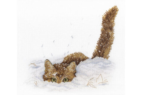 MP Studia Cross Stitch Kit - Cat in the Snow