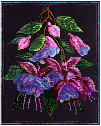 Panna Bead Embroidery Kit - Fuschia