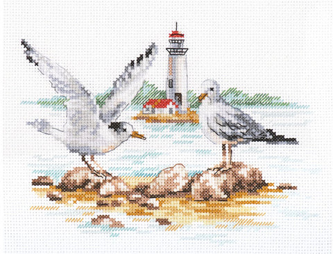 Alisa Cross Stitch Kit - Seagulls