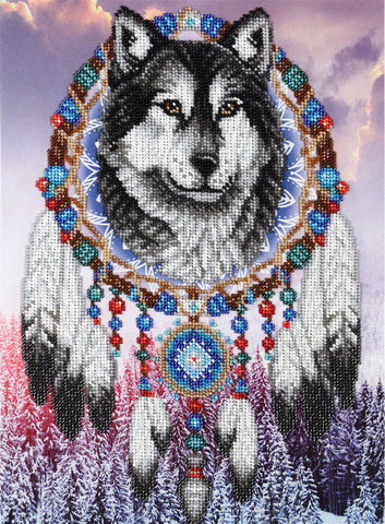 VDV Bead Embroidery Kit - Dreamcatcher Wolf