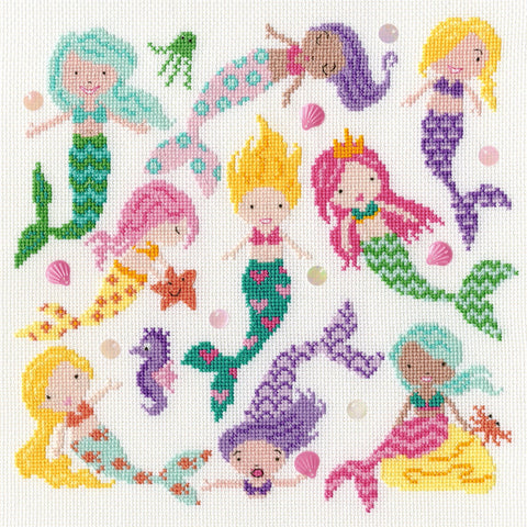 Bothy Threads Cross Stitch Kit - Slightly Dotty Mermaids