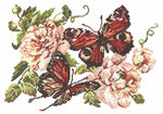 Magic Needle Cross Stitch Kit - Peonies and Butterflies