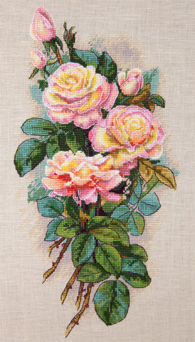 Merejka Cross Stitch Kit - Vintage Roses (Aida)