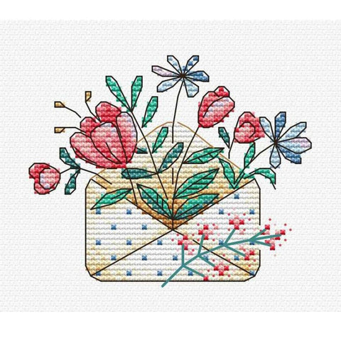 MP Studia Cross Stitch Kit - Flower Letter