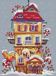 Merejka Cross Stitch Kit - Winter House
