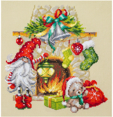 Magic Needle Cross Stitch Kit - Waiting For Christmas