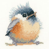 Heritage Crafts Little Friends Cross Stitch Kit - Chickadee (Aida)