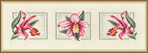 Panna Cross Stitch Kit : Three Orchids