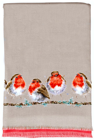 Wrendale Designs Winter Scarf and Gift Bag - Jolly Robin