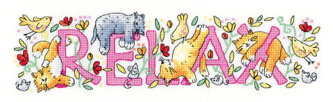 Heritage Crafts Cross Stitch Kit - Relax (Aida)