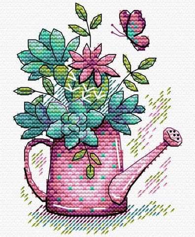 MP Studia Cross Stitch Kit - Beautiful Flowers