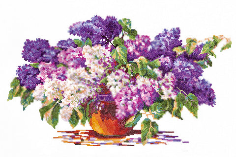 Magic Needle Cross Stitch Kit - Lilac Bouquet