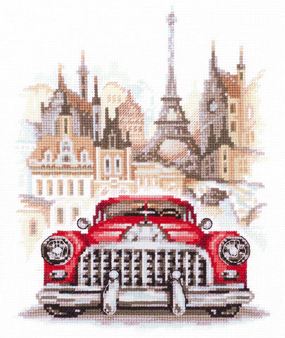 Magic Needle Cross Stitch - Retro Buick