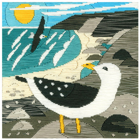 Bothy Threads Silken Long Stitch Kit - Seagulls