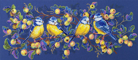 Merejka Cross Stitch Kit - Titmouses