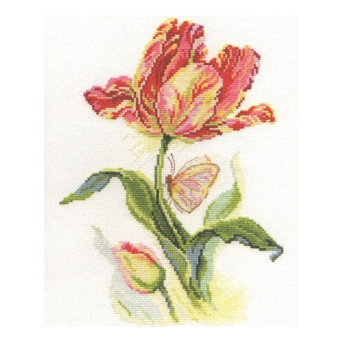Alisa Cross Stitch Kit - Tulips and Butterfly