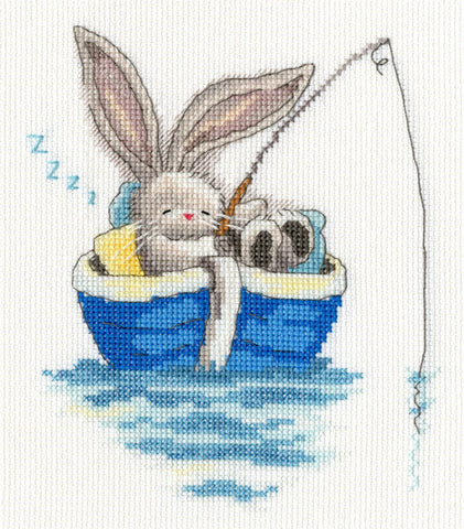 Bothy Threads Cross Stitch Kit - Bebunni - Gone Fishing