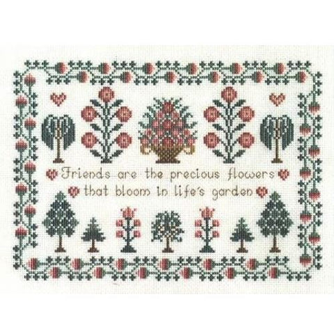 Derwentwater Designs Sampler Cross Stitch Kit - Friends Sampler