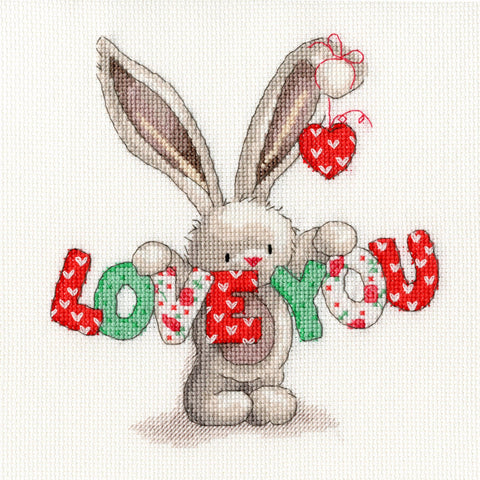 Bothy Threads Cross Stitch Kit - Love You
