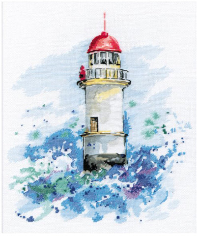 Oven Cross Stitch Kit - Guiding Star Lighthouse