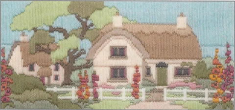 Derwentwater Designs Long Stitch Kit - Hollyhock Lane
