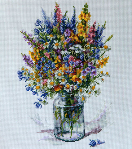 Merejka Cross Stitch Kit - The Thistle Bouquet