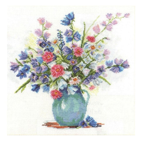 Alisa Cross Stitch Kit - Bellflowers