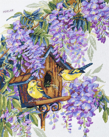 Merejka Cross Stitch Kit - Wisteria