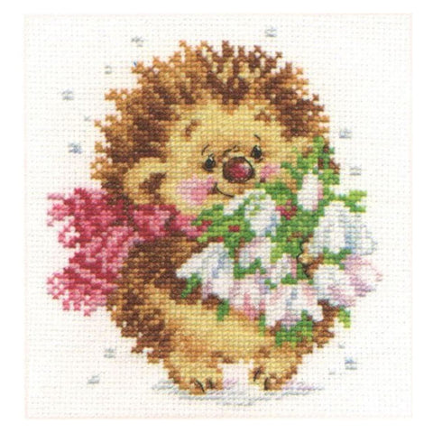 Alisa Cross Stitch Kit - Spring Hedgehog
