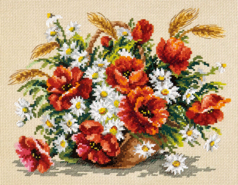 Magic Needle Cross Stitch - Bouquet of Wildflowers