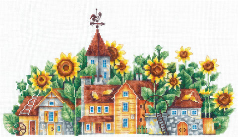 Andriana Cross Stitch Kit - Country of Sunflowers