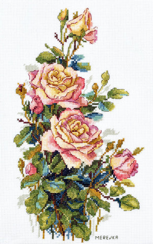 Merejka Cross Stitch Kit - Yellow Roses