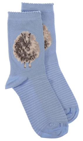 Wrendale Designs Sheep Sock with Gift Bag - The Woolly Jumper