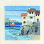 Derwentwater Designs Silken Long Stitch Kit - Headland Cottages