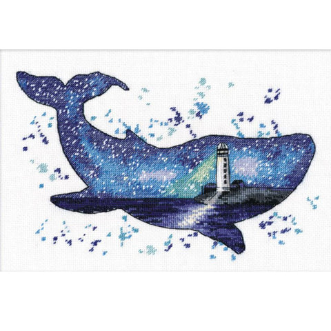 Oven Cross Stitch Kit - Animal World Whale