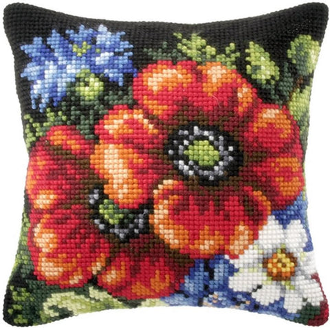 Orchidea Tapestry Kit - Poppies and Thistle