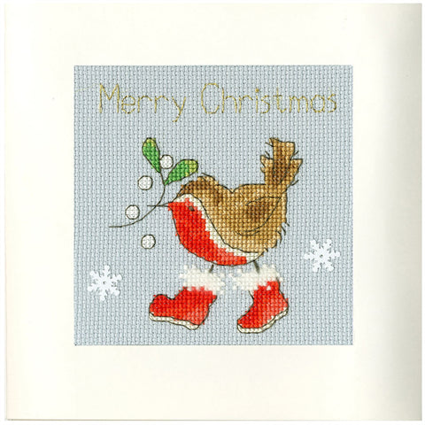 Bothy Threads Cross Stitch Card Kit - Step Into Christmas