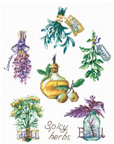 Andriana Cross Stitch Kit - Spicy Herbs