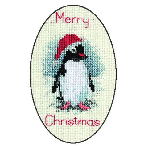 Derwentwater Designs Christmas Cross Stitch Card Kit - Penguin