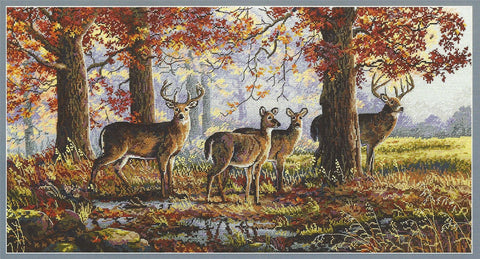 Merejka Cross Stitch Kit - Under The Oaks