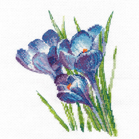 Oven Cross Stitch Kit - Crocuses