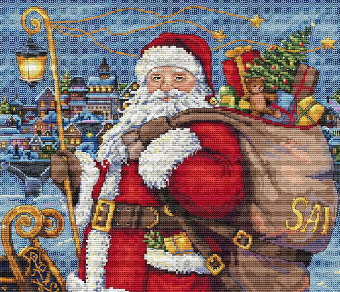 Merejka Cross Stitch Kit - Santa is Coming (Aida)