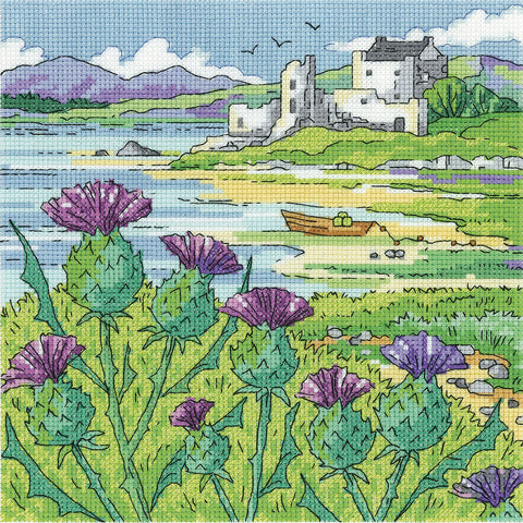 Heritage Crafts Cross Stitch Kit - Thistle Shore (Aida)