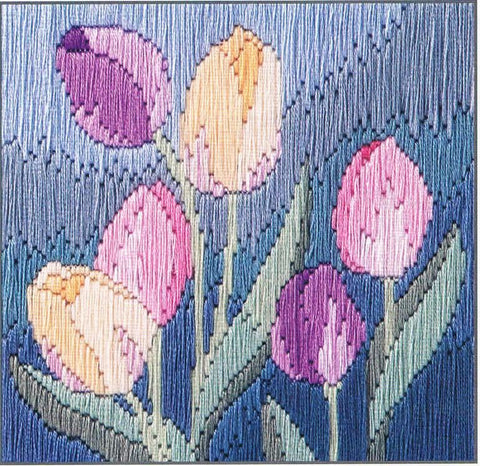 Derwentwater Designs Silken Long Stitch Kit - Tulips